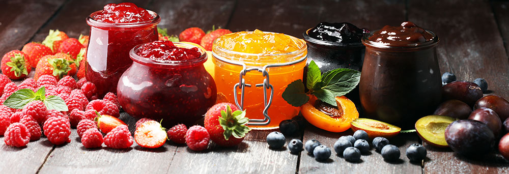 Jam and spreadable cream