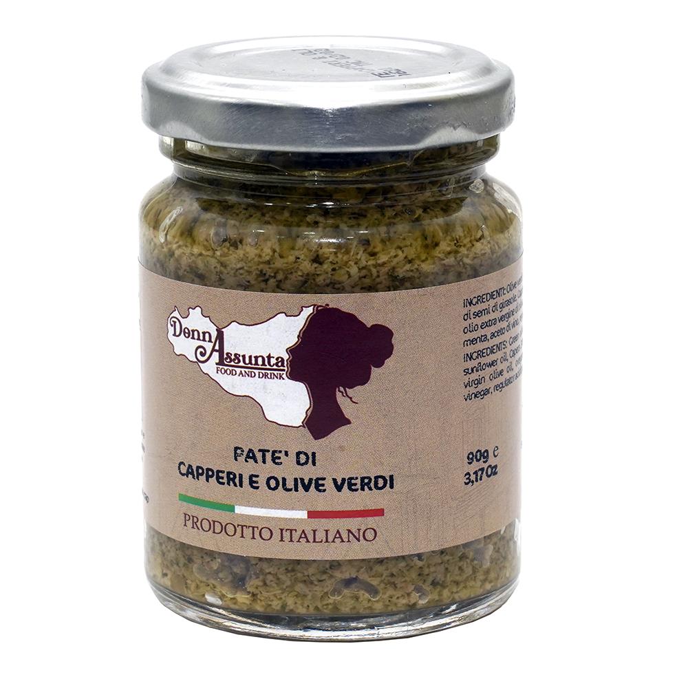 Patè di capperi e olive verdi